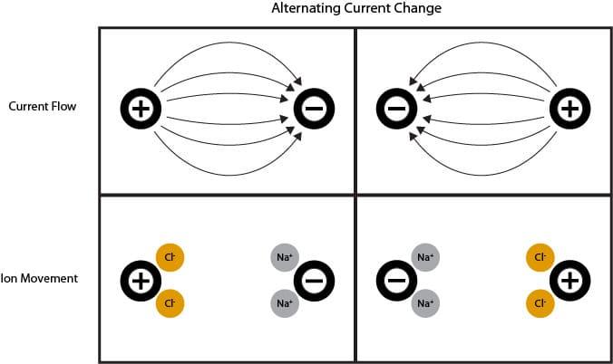 2-cell conductivity electrode conceptual diagram